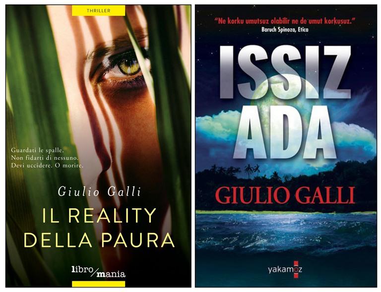 Il reality della paura, il primo dei quattro thriller dello scrittore Giulio Galli. Questo thriller è stato anche tradotto in turco.