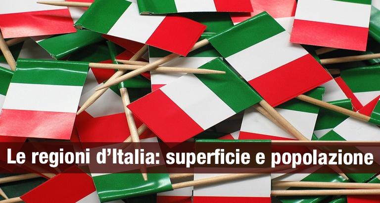 Le regioni d'Italia per superficie e popolazione