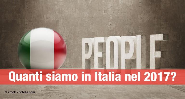 Quanti siamo in Italia nel 2017?